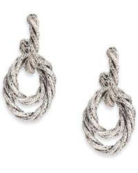 John Hardy Classic Chain Sterling Silver Drop Earrings - Metallic