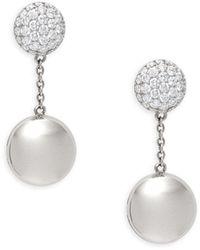 Roberto Coin 18k White Gold, Ruby & Diamond Earrings - Multicolour