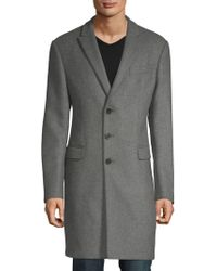 Armani - Textured Long Coat - Lyst