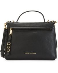 Marc Jacobs The Two Fold Leather Satchel - Black