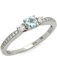 Le Vian - 14k Vanilla Gold Sea Blue Aquamarine & Vanilla Diamonds Ring - Lyst