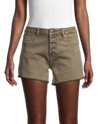 Vigoss Ace High-rise Denim Shorts - Green