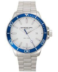 Raymond Weil Men's Stainless Steel Bracelet Watch - Blue