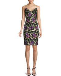 Calvin Klein Floral Sheath Dress - Black