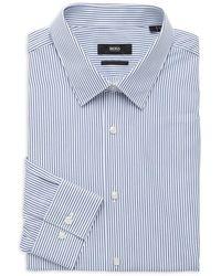 BOSS by HUGO BOSS Eliott Regular-fit Pinstriped Dress Shirt - White