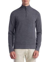 Saks Fifth Avenue - Collection Tech Merino Wool Quarter-zip Jumper - Lyst