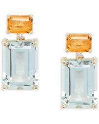 Effy Women's 14k Yellow Gold, Multi-stone & Diamond Drop Earrings - Metallic