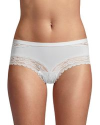Ava & Aiden Lace-trimmed Hipster - Multicolor