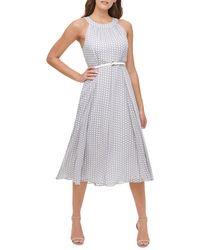 Tommy Hilfiger Solo Polka Dot Chiffon A-line Dress - Multicolour