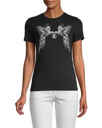 Roberto Cavalli - Parrot Logo Graphic T-shirt - Lyst