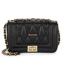 Valentino By Mario Valentino Beatriz D Leather Shoulder Bag - Black