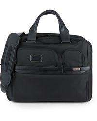 Tumi Leather-trim Expandable Laptop Brief Bag - Black