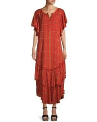 Free People Better Days Striped Maxi Dress - Red