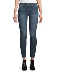 True Religion - Skinny Cropped Jeans - Lyst