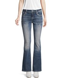 Miss Me Faded Flared Bootcut Jeans - Blue