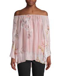 Le Marais Floral-print Silk Top - Pink