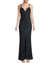Parker Luna Sleeveless Sequin Gown - Midnight - Size 4 - Blue