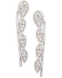 Hueb Bestow 18k White Gold & Diamond Crawler Earrings