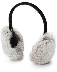 Surell Rabbit Fur Ear Muff - Gray