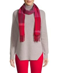 Saks Fifth Avenue - Fringed Check Wool Scarf - Lyst