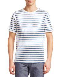 Saks Fifth Avenue Collection Cotton Stripe Tee - Blue