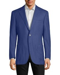 Canali Slim-fit Two-button Sportcoat - Blue