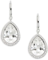 Swarovski - Teardrop Crystal Earrings - Lyst