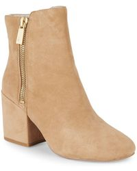 Kenneth Cole - Rima Suede Booties - Lyst