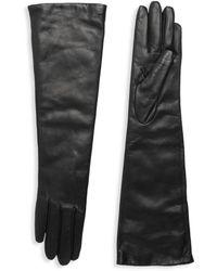Portolano Women's Slip-on Leather Gloves - Black - Size 6.5