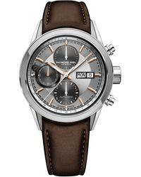 Raymond Weil Freelancer 5000 Chronograph Leather-strap Watch - Multicolour