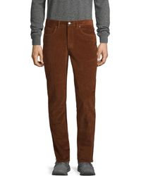 Saks Fifth Avenue Slim-fit Stretch Jeans - Brown