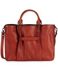 Longchamp Leather Satchel - Brown