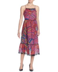 Catherine Malandrino - Gillie Printed Midi Dress - Lyst
