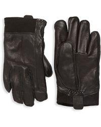UGG Faux Fur-lined Leather Gloves - Black