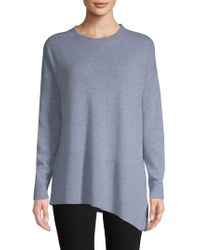 Saks Fifth Avenue - Asymmetrical Cashmere Sweater - Lyst