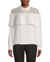 Laundry by Shelli Segal - Lace Collared Top - Lyst