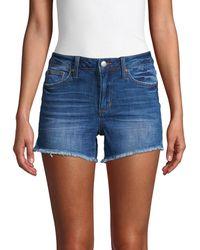 Joe's Jeans Janessa Mid-rise Cut-off Denim Shorts - Blue