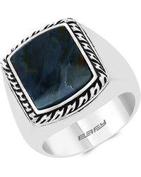 Effy Sterling Silver Pietersite Ring - Metallic