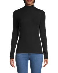 Theory Turtleneck Top - Black