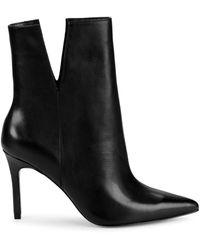 Charles David Dashing Leather Booties - Black