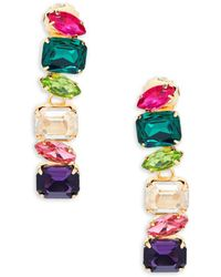Jardin - Linear Glass Drop Earrings - Lyst