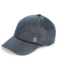 Original Penguin Washed Baseball Cap - Blue