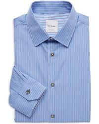 Paul Smith Soho-fit Pinstriped Dress Shirt - Blue