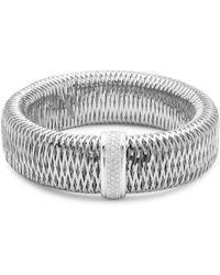 Roberto Coin - Diamond, Ruby And 18k White Gold Diaxlarge Primavera Bracelet - Lyst