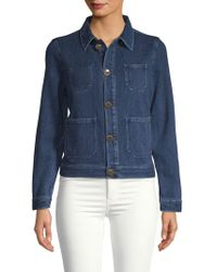 AG Jeans - Collared Denim Jacket - Lyst