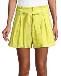 Free People Everywhere You Go Shorts - Yellow