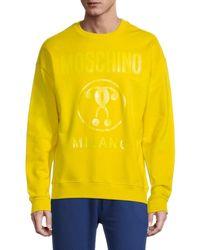 Moschino ! Milano Logo Crewneck Sweatshirt - Yellow