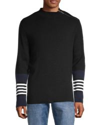 Karl Lagerfeld Zip-shoulder Sweater - Black