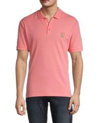 Moschino ! Bear Graphic Cotton Polo - Pink