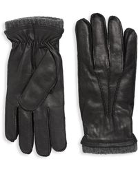 Saks Fifth Avenue - Napa Leather Gloves - Lyst